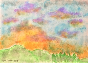 sunset - watercolor